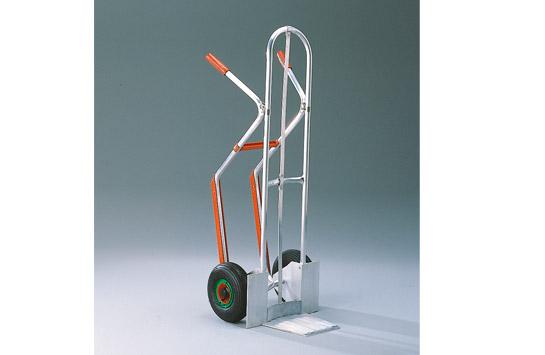 Aluminium-Stapelkarre mit zusätzlichem Längsholm für kleine Güter