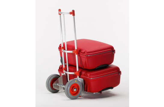 Aluminum stacking truck for parcels