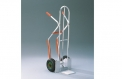 Aluminium stacking truck with additional longitudinal tube for small goods