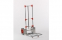 Aluminium-Stapelkarre für Pakete mit 3 Schwingen, 1 Längsstrebe und klappbarer Schaufel
