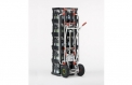 Aluminium-Stapelkarre mit Kisteneinhängung für 2 Stapel